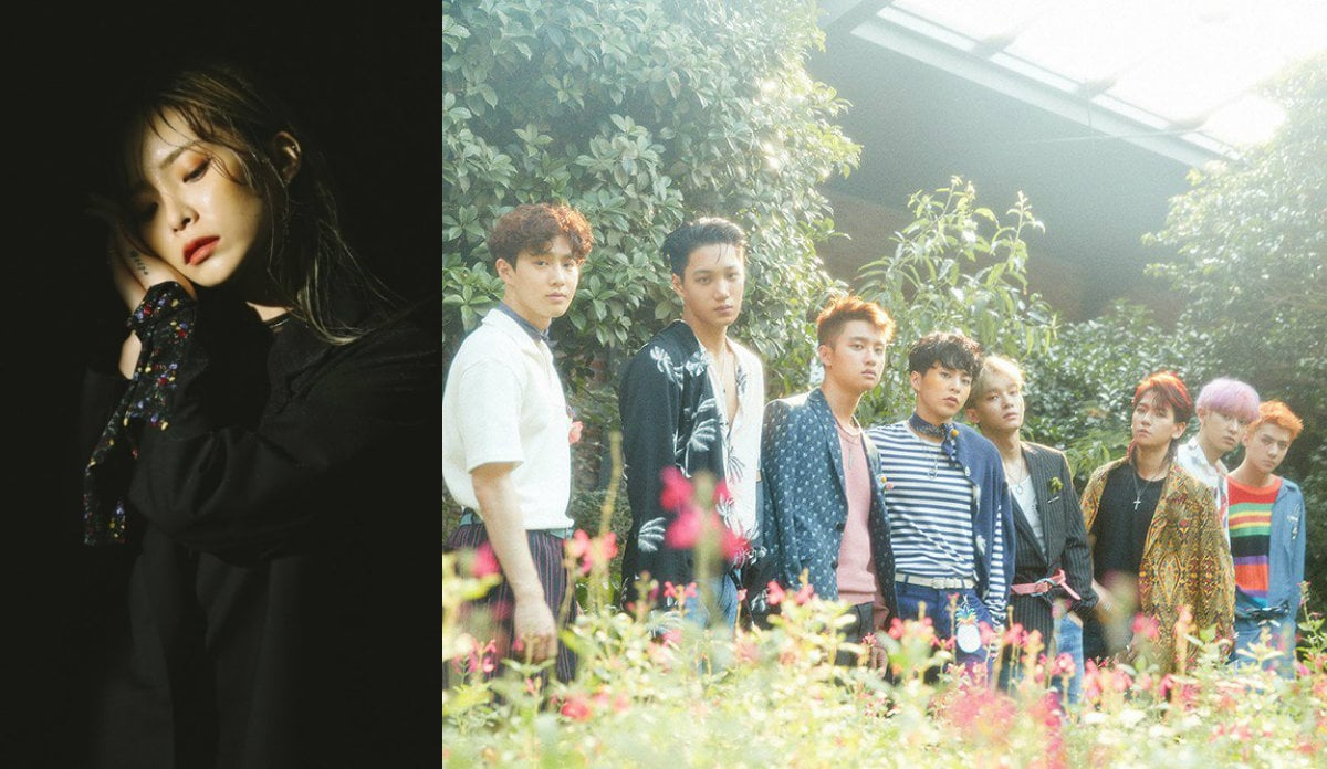 Heize And EXO Top Monthly Gaon Charts For July