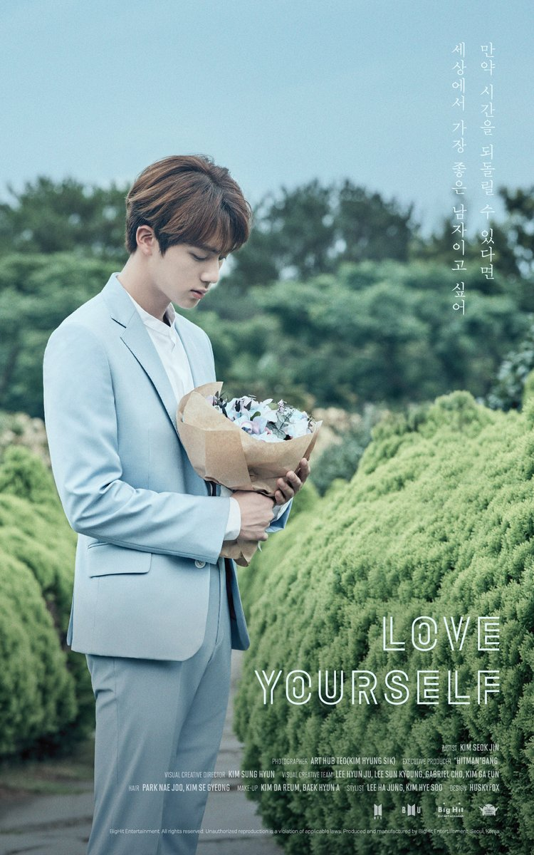 Update Bts Reveals Jin S Poster For Love Yourself Soompi