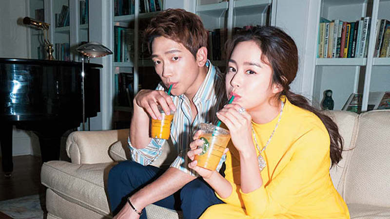 Kim Tae Hee Shows Support For Husband Rain By Sending Coffee Truck To Movie Set