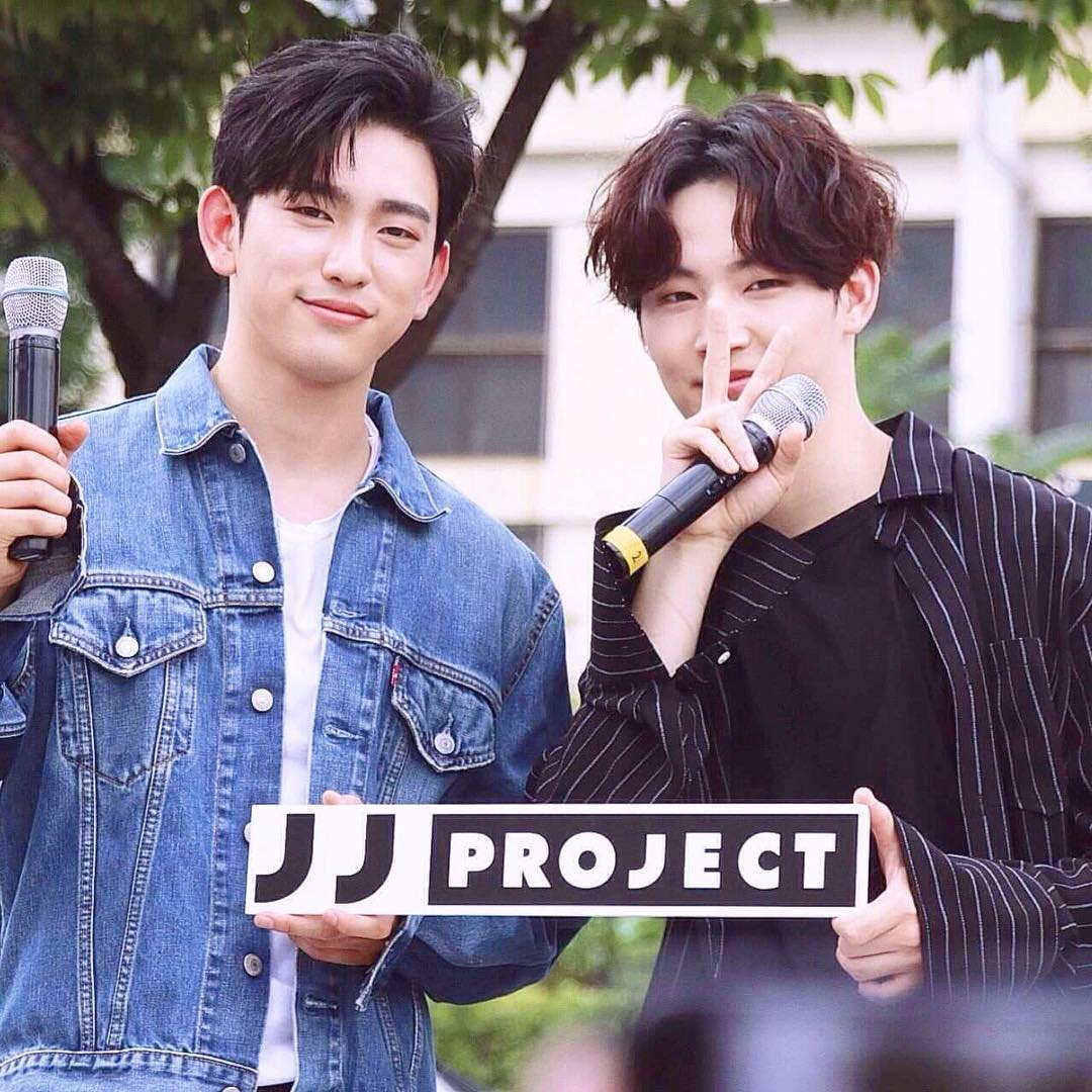 "GOT7's Jinyoung Jokes About Why He ""Almost Died"" While Recording JB's Song"
