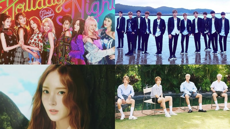 Girls Generation, Wanna One, Jessica, And WINNERs New Releases Rank High On Billboards World Charts