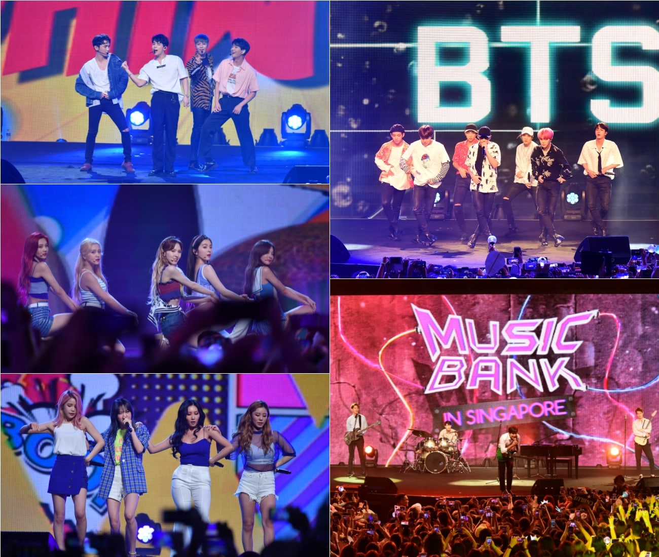 Watch: BTS, SHINee, Red Velvet, CNBLUE, And MAMAMOO Perform At Music Bank In Singapore