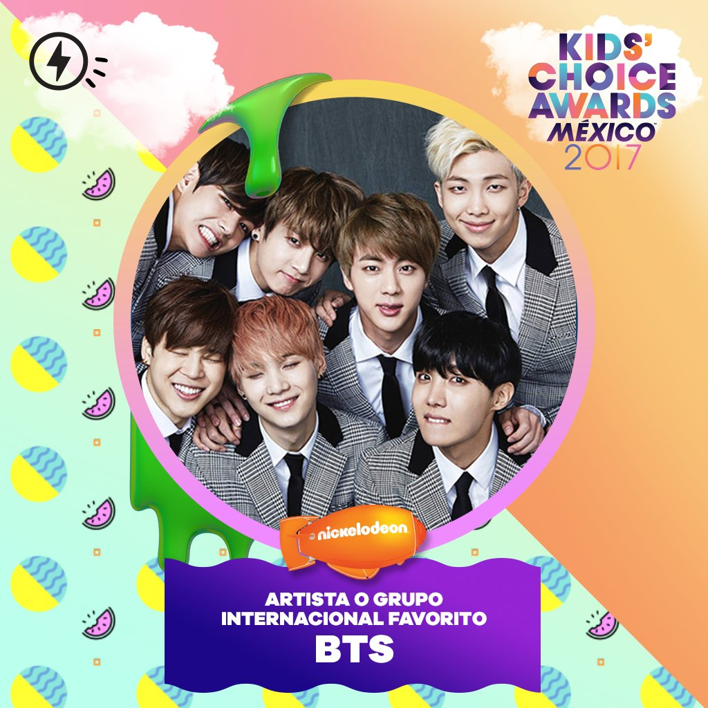 BTS Wins Favorite International Artist Or Group Award At Kids Choice Awards Mexico
