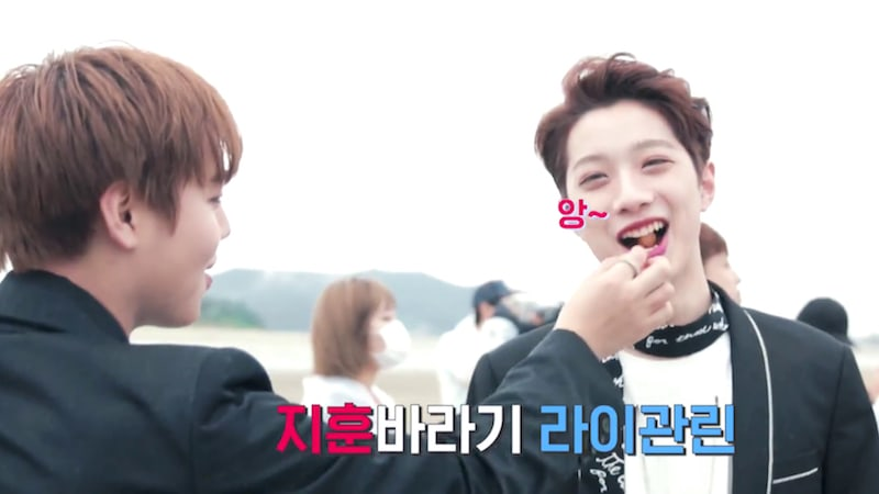 """Watch: Wanna One Feeds Each Other And Dances With Anchovies In Making Of """"Burn It Up"""" MV"""