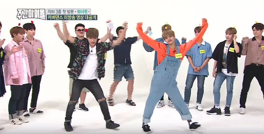 "Watch: ""Weekly Idol"" Releases Unaired Footage Of Wanna One Dancing To TWICE"