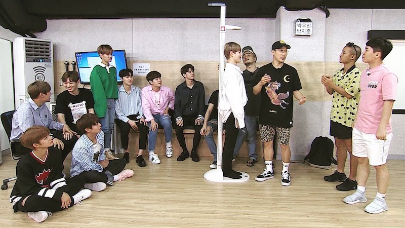 "Wanna One Undergoes Height Measurement To Qualify For ""Short Party"" On ""Infinite Challenge"""