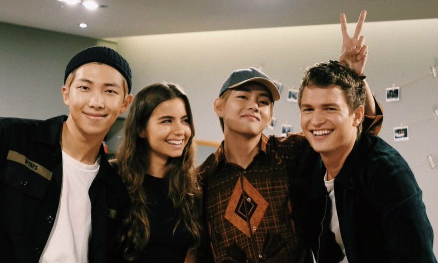 BTSs Rap Monster and V Reunite With Ansel Elgort