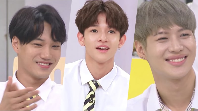 """Watch: EXO's Kai And SHINee's Taemin Praise Samuel For His Dance Skills On """"Happy Together"""""""
