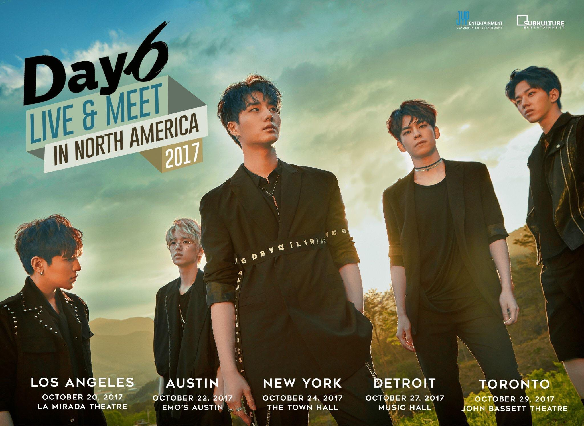 Day6 Announces Dates And Locations For 2017 North American Meet