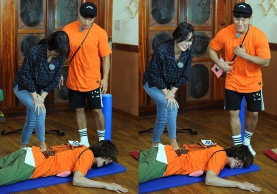 Lee Kwang Soo Gets The Massage Of His Life From Soyou On Running Man