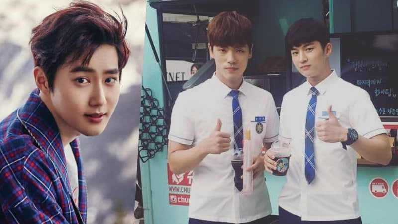EXOs Suho Sends Coffee Truck To School 2017 Set In Support Of Kim Jung Hyun And Kim Hee Chan