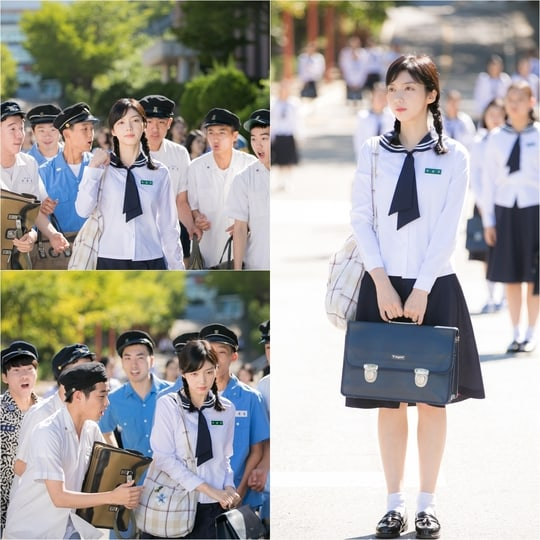 """Cosmic Girls's Bona And Chae Seo Jin Immerse Themselves In 1970s School Life For """"Girls' Generation 1979"""""""