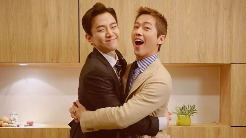 "2PM's Junho Sends Coffee Truck To ""Chief Kim"" Bromance Partner Namgoong Min"