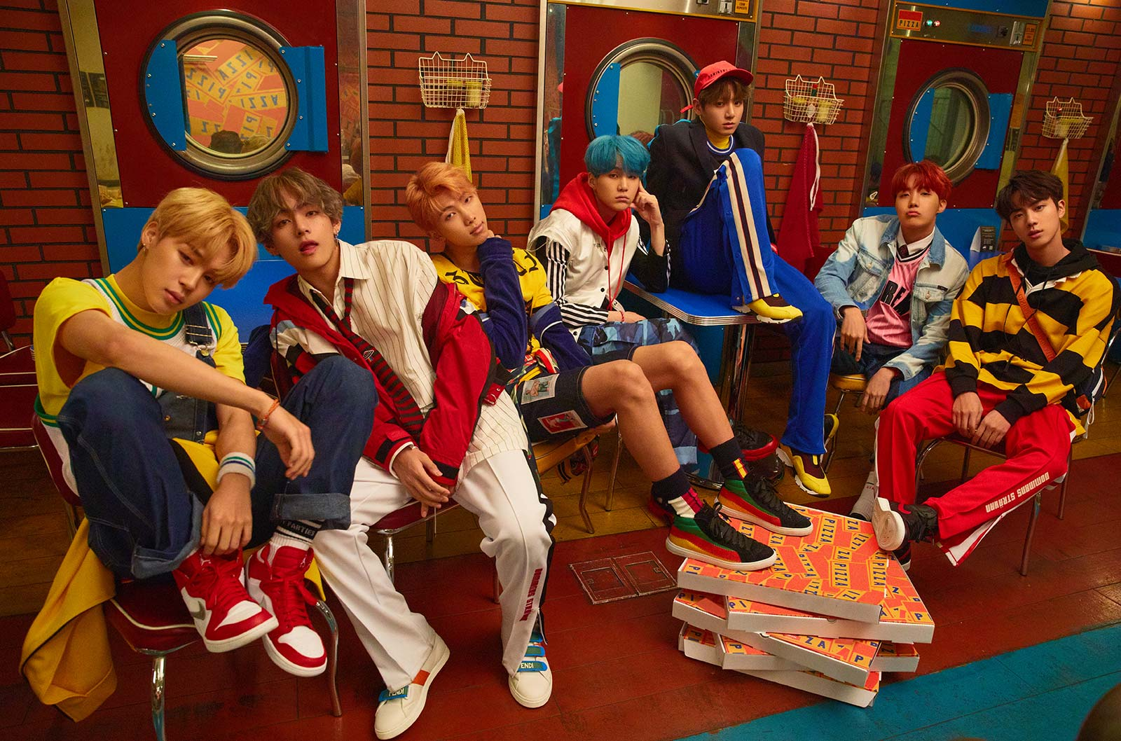 "BTS Goes For Bright And Colorful Concepts In New ""Love Yourself: Her"" Photos"