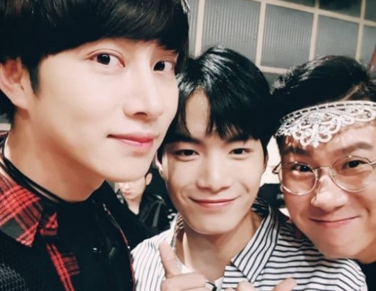 Kim Heechul Shows Off His Blossoming Friendship With NUESTs JR