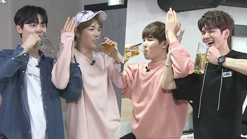 Watch: Kang Daniel Teaches Other Wanna One Members Beer Yoga