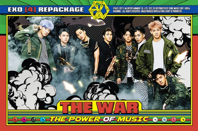 EXO Continues To Soar As THE WAR: The Power Of Music Tops Gaons Combined Album Chart