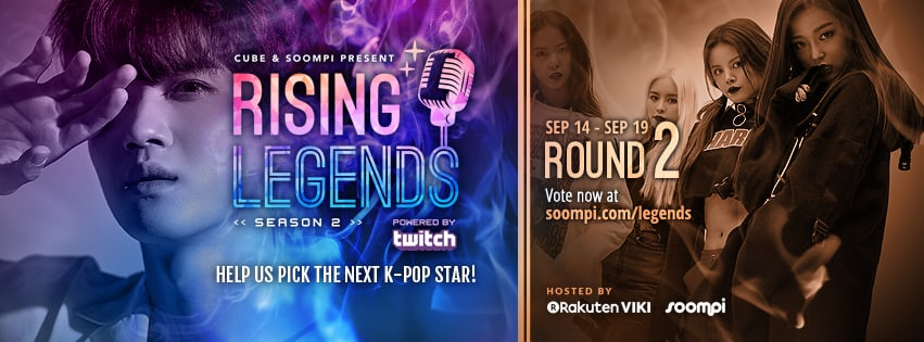 "VOTE NOW: Round 2 Of ""Rising Legends: Season 2"" Presented By Cube Entertainment And Soompi"