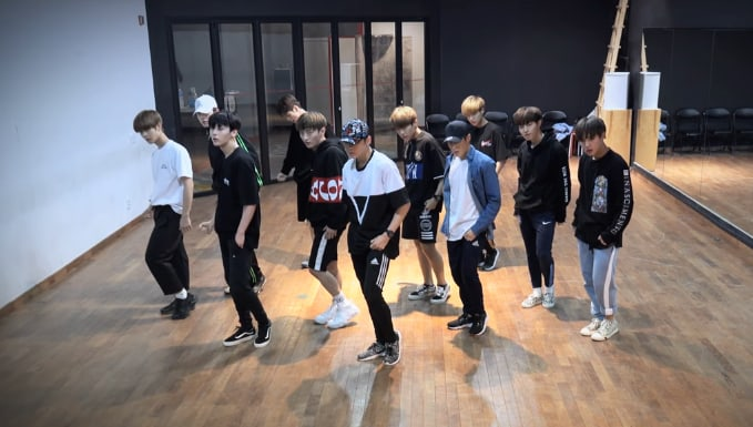 "Watch: Wanna One Treats Fans To Dance Practice Videos For ""Energetic"" And ""Burn It Up"""