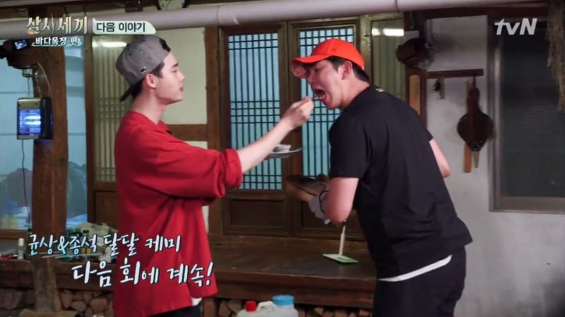 """Watch: Lee Jong Suk And Yoon Kyun Sang Are Inseparable In Preview For """"Three Meals A Day"""""""