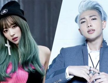 EXID Hani BTS Rap Monster