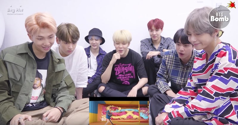 "Watch: BTS Can't Help But Stan One Another In Reaction To ""DNA"" MV"