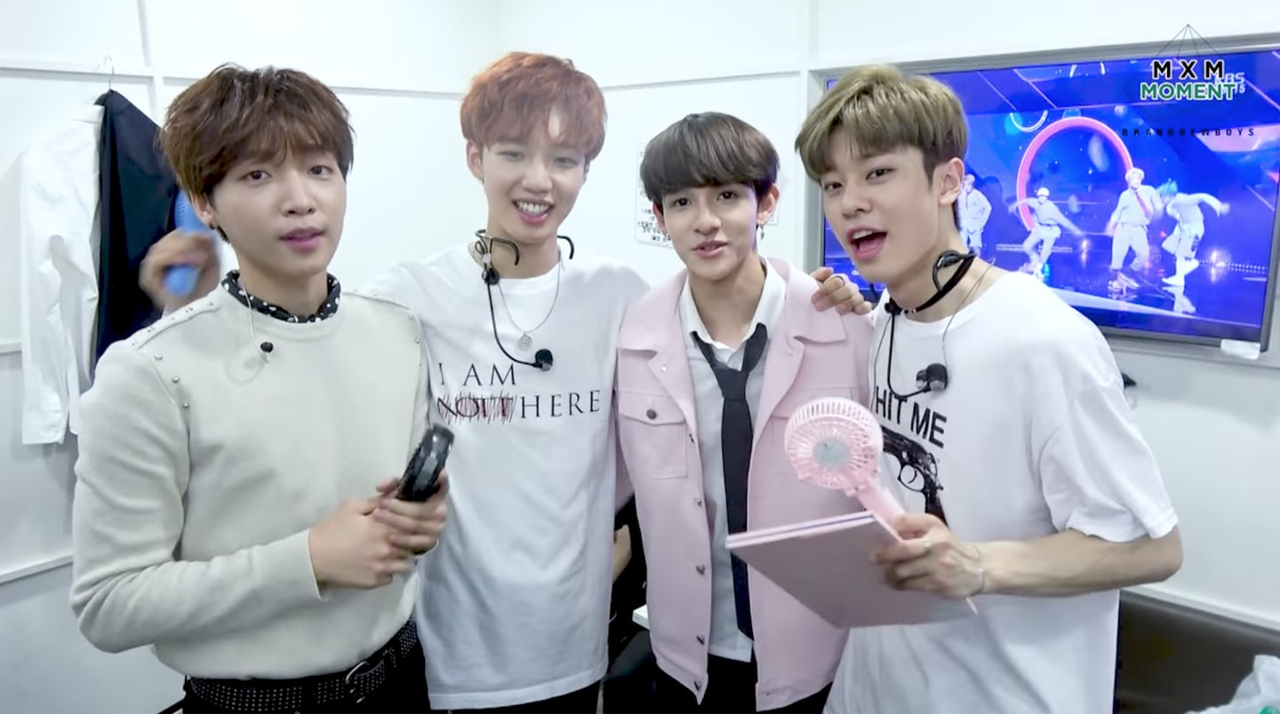 Watch: Jeong Sewoon, MXM, And Samuel Reunite Backstage At Music Shows