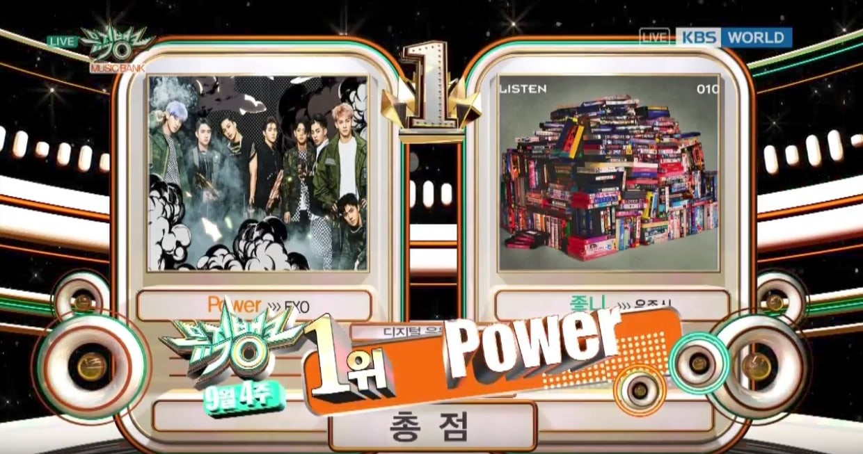 "Watch: EXO Takes 5th Win With ""Power"" On ""Music Bank,"" Performances By BTS, GFRIEND, B.A.P, And More"