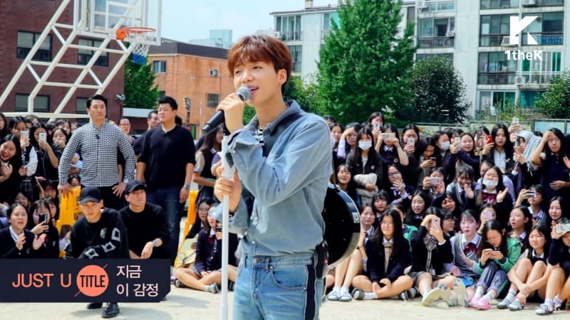 Watch: Jeong Sewoon Thrills Fan And Fellow Students With Surprise Visit To Her High School