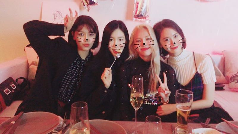 Girls' Generation Members Show Off Their Decade Of Friendship For Hyoyeon's Birthday