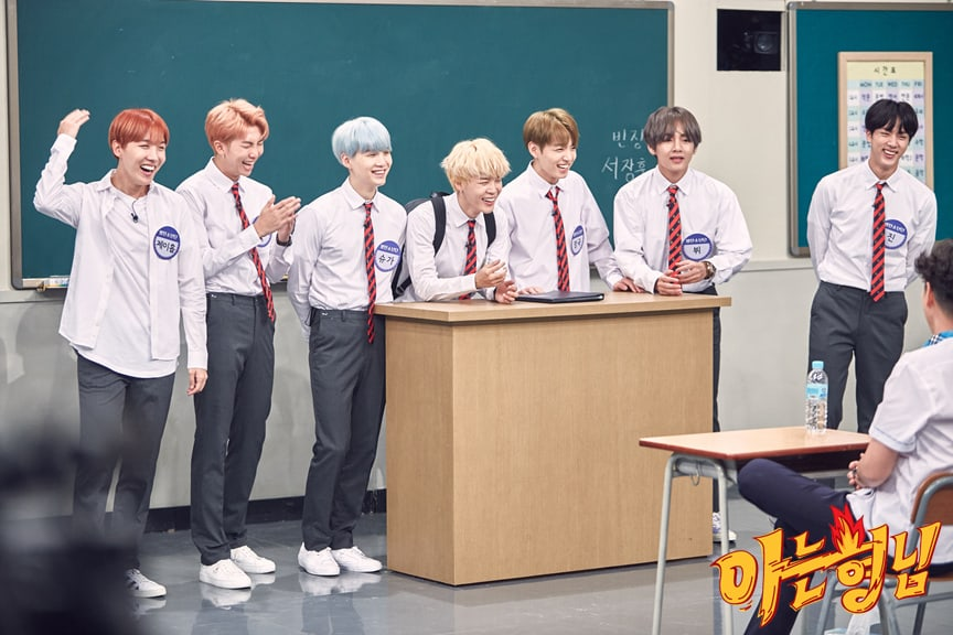 BTS Challenges The Cast Of JTBCs Ask Us Anything To Guess Their Nicknames