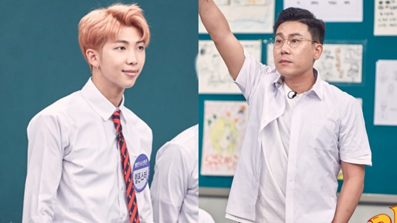 Watch: BTS's Rap Monster Has A Rap Battle With Lee Sang Min
