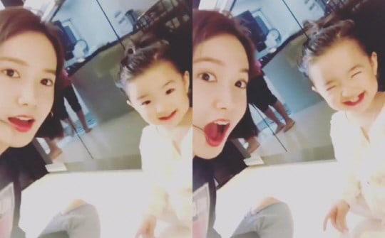 Girls Generations YoonA Adorably Plays With So Yi Hyuns Daughter