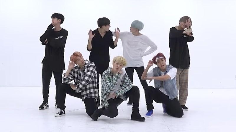 """Watch: BTS Has Fun In Energetic Dance Practice Video For """"DNA"""""""