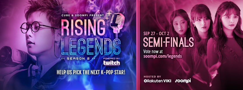 "VOTE NOW: Semi-Finals Of ""Rising Legends: Season 2"" Presented By Cube Entertainment And Soompi"