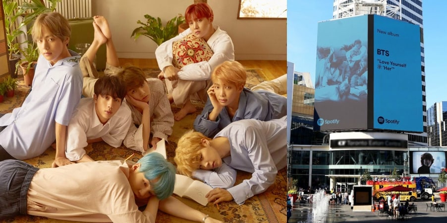 BTS Thanks ARMY And Spotify For Billboard At Toronto Eaton Centre