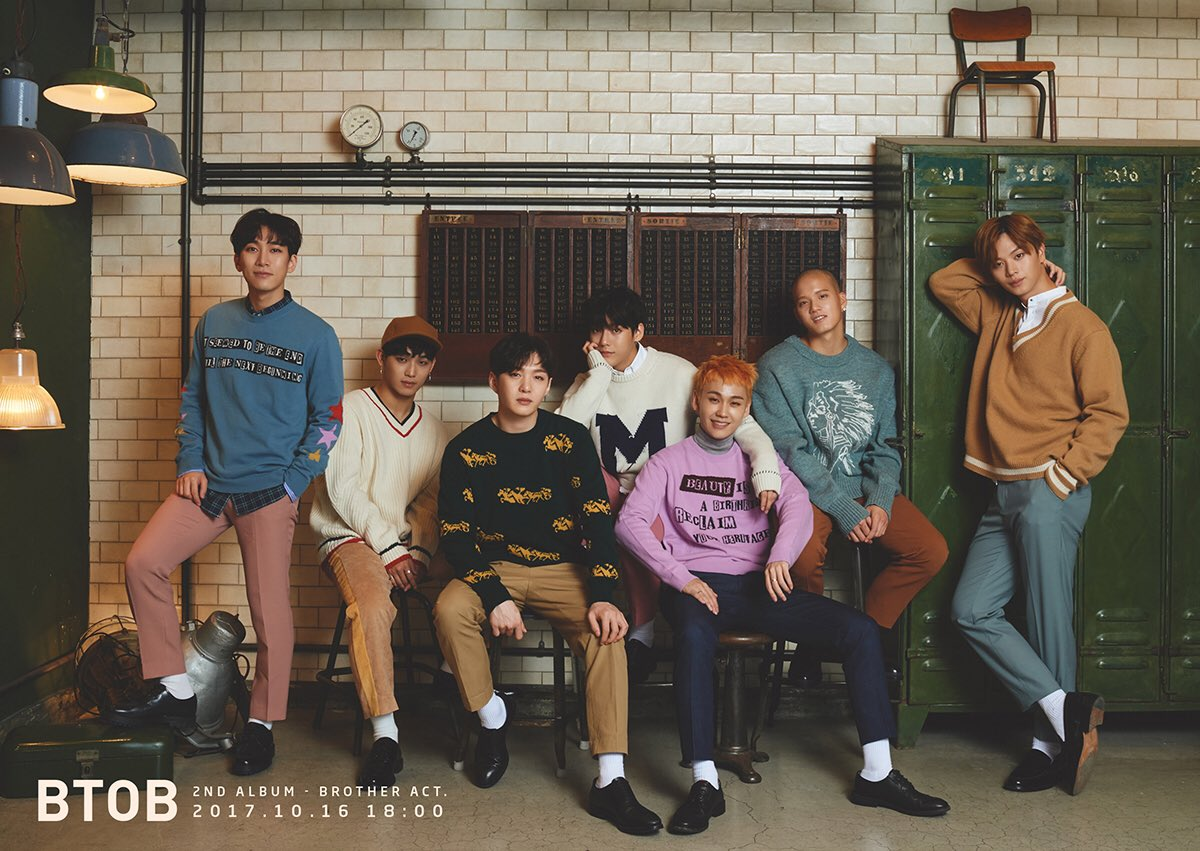 """Update: BTOB Previews Songs Off """"Brother Act."""" With Audio Snippet"""