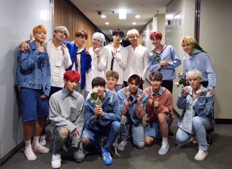 VICTON Shares Photos With Role Models BTS From Long-Awaited First Meeting