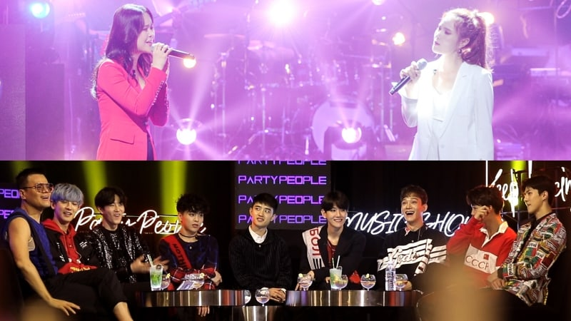 """JYP's Party People"" Episode Featuring Baek Ji Young, Gummy, And EXO Records Top Ratings Of Its Time Slot"