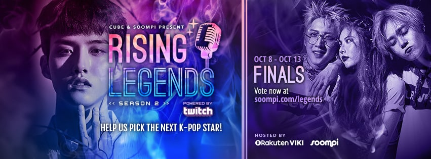 "VOTE NOW: Finals Of ""Rising Legends: Season 2"" Presented By Cube Entertainment And Soompi"
