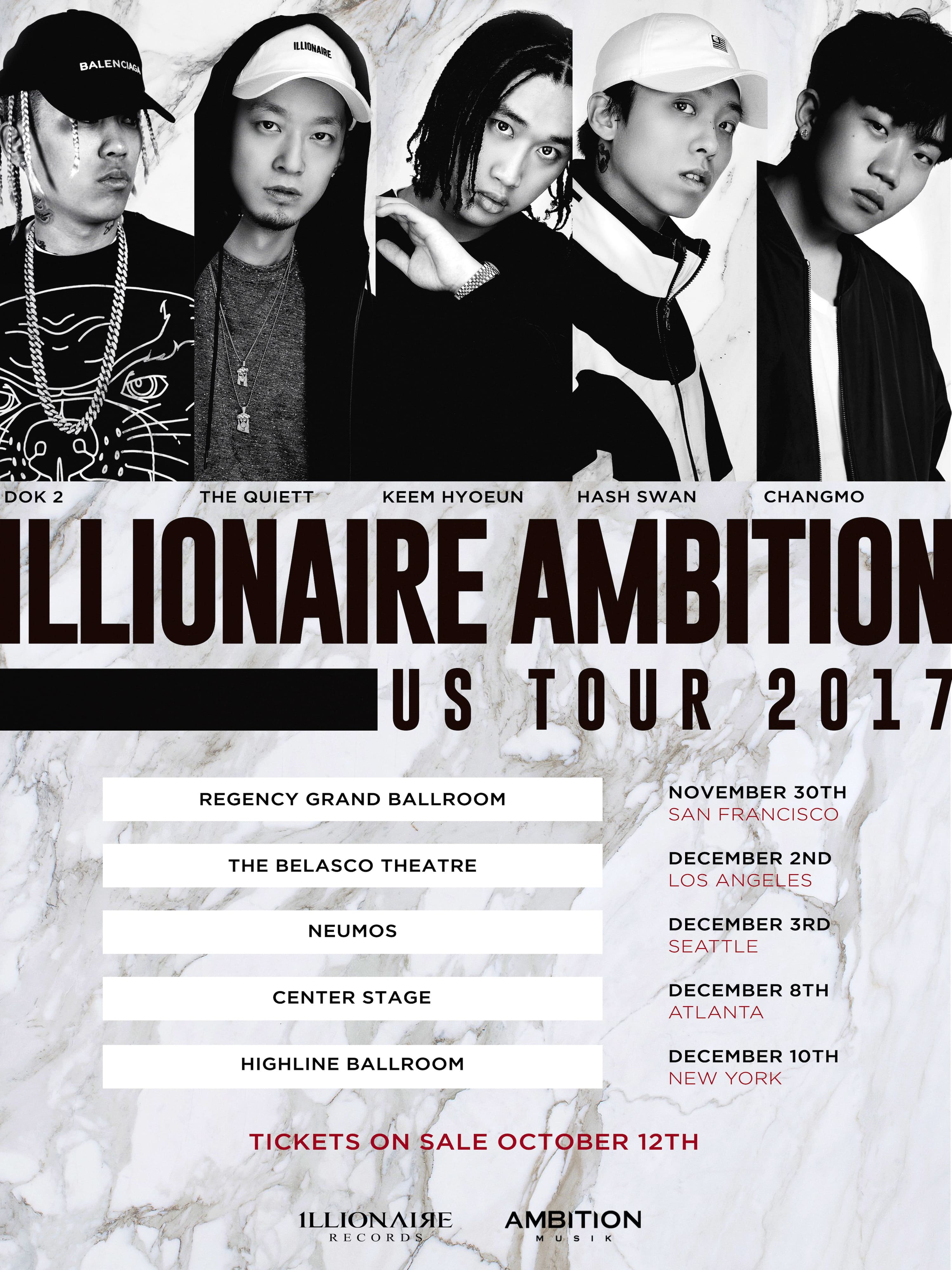 Giveaway: ILLIONAIRE And AMBITION Co-Headline 5-City US Tour!