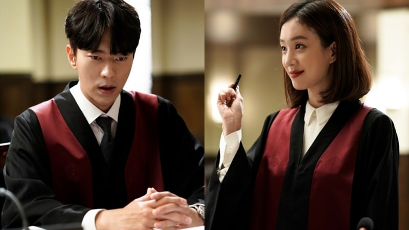"""Yoon Hyun Min And Jung Ryeo Won Work On Their First Case Together In New """"Witch's Court"""" Stills"""
