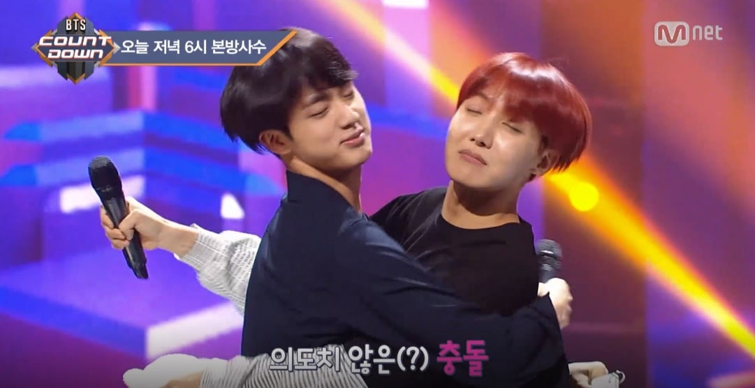 """Watch: BTS's Jin And J-Hope Experience An Unwanted """"Kiss"""""""