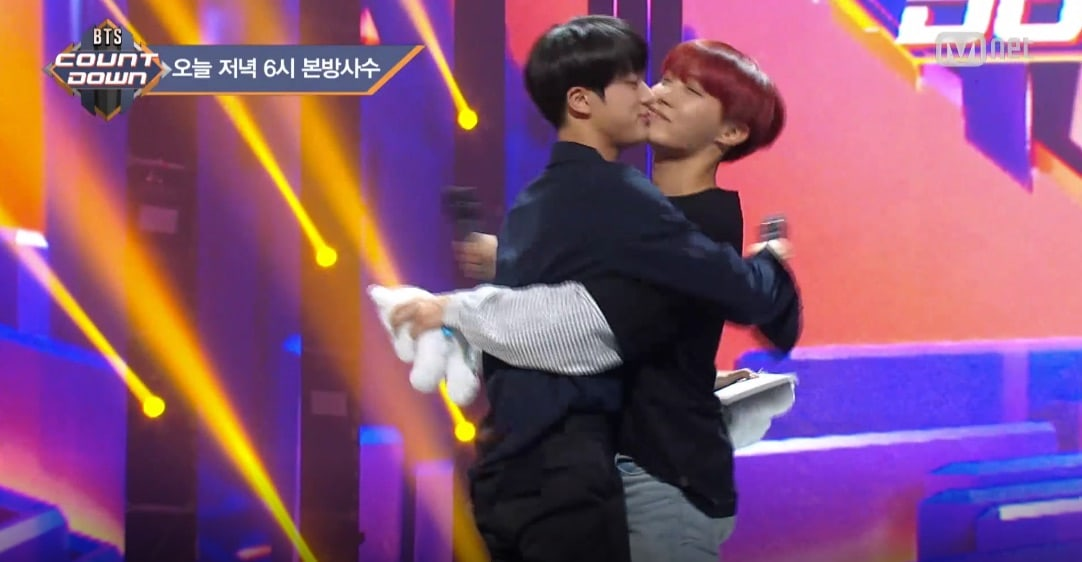 """Watch: BTS's Jin And J-Hope Experience An Unwanted """"Kiss"""" 