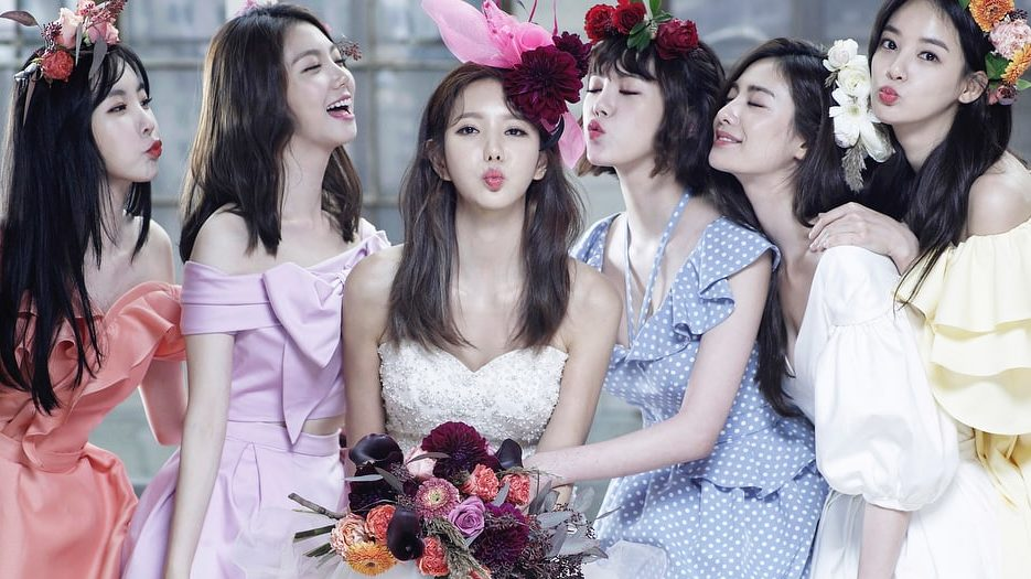 Jung Ah Reunites With Fellow After School Members For Beautiful Bridesmaid Pictorial