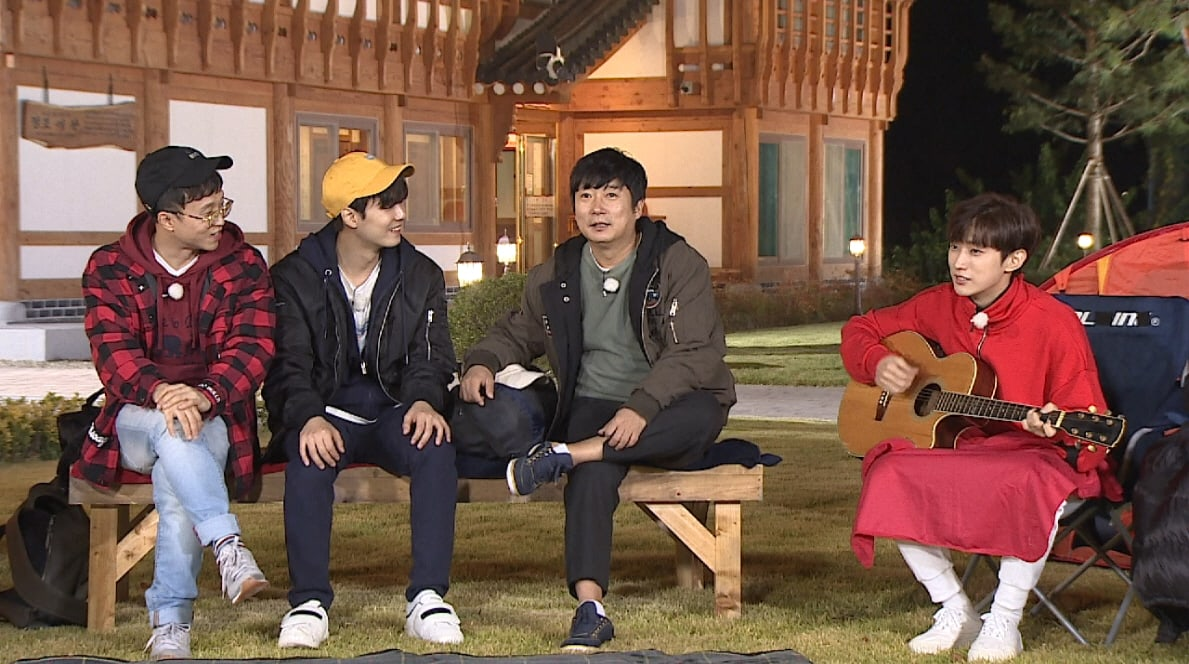 """Watch: B1A4's Jinyoung And NU'EST's JR Spontaneously Write Song For """"Night Goblin"""""""