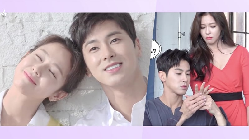 "Watch: TVXQ's Yunho And Kyung Soo Jin Are The Cutest At ""Melo Holic"" Script Reading And Poster Shoot"