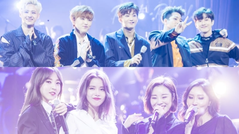 """Watch: B1A4 And MAMAMOO Perform Their Own Renditions Of Classic K-Pop Tunes On """"JYP's Party People"""""""