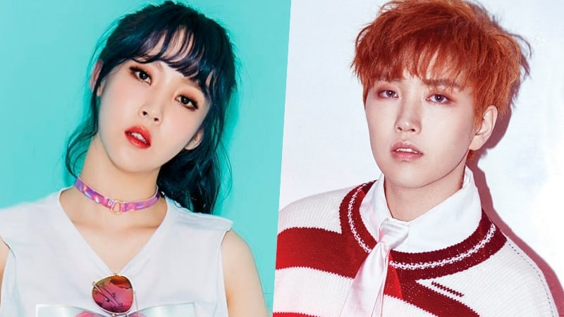 mamamoos moonbyul and b1a4s sandeul talk about their
