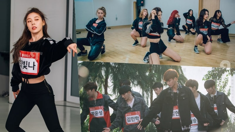 """""""MIXNINE"""" Reveals More Agency Tour Photos Including Members Of DreamCatcher, Ladies' Code, Romeo, And More"""
